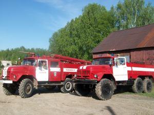 Пожарные МПО с.Енапаево на линейки готовности.