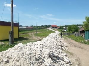 закончен ремонт улиц к Сабантую с.Енапаево